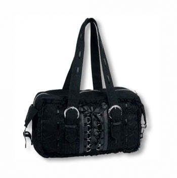 Gothic Handbag with Lace