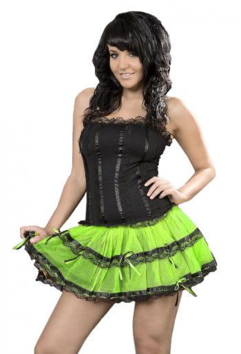 Minikleid schwarz neongrün