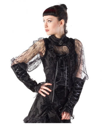 Gothic ladies` blouse with lace