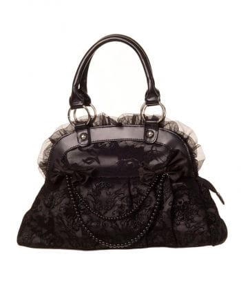 Handbag black with lace