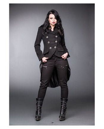 Gothic coat with Dipped Hem