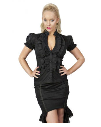 Frilly blouse black