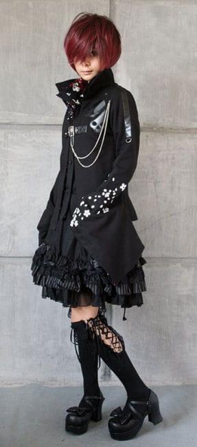 Gothic Strümpfe mit Spitze schwarz