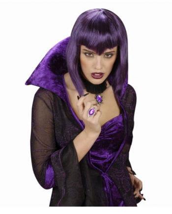 Gothic Ring mit violettem Stein
