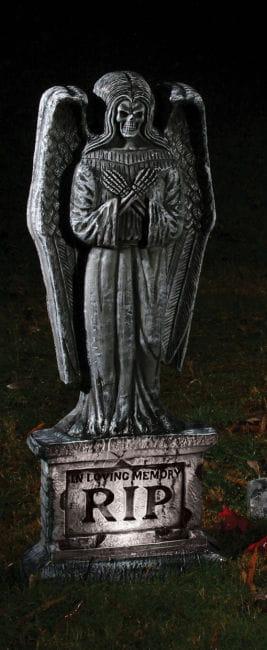 Grabstein Engel mit LED