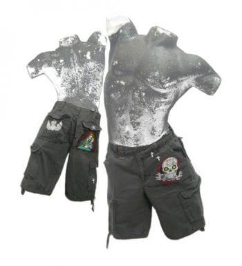 Grinsender Totenkopf Shorts XL