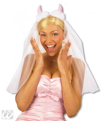 Brautschleier With Pink Horns