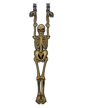 Hängende Skelett Wanddeko