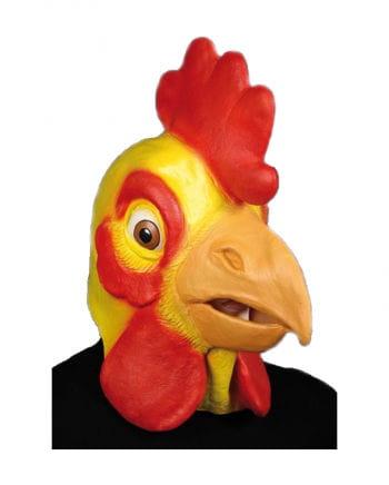 Hahnen Maske gelb
