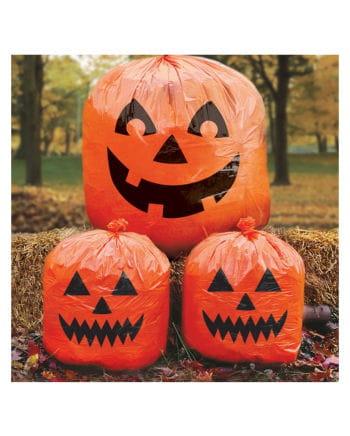 Halloween lawn bags with pumpkin motif 3 St.