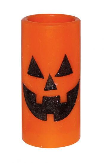 LED Candle Orange with Pumpkin