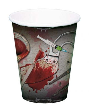 Halloween paper cups with surgeons Scene
