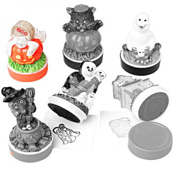 Halloween Rubber Stamp Pumpkin Mummy