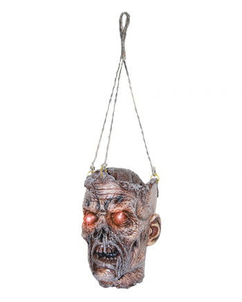 Zombie head with LED Eyes