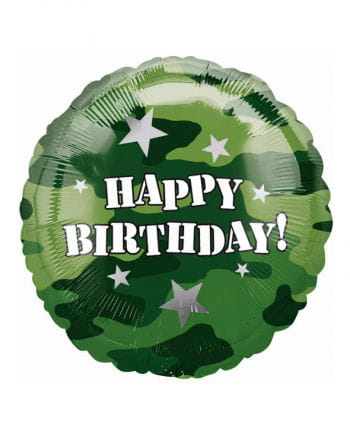 Happy Birthday Camouflage Folienballon