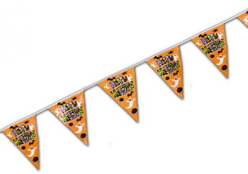Happy Halloween Pennant Banner Orange