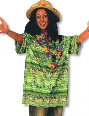 Hawaii Hemd Palmen grün