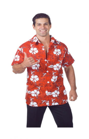 Hawaiian Shirt Red Plus Size