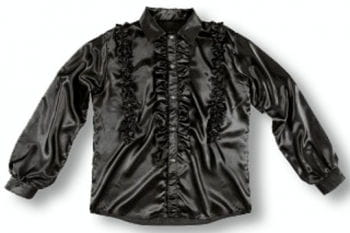 Hemd mit Rüschen Schwarz XL