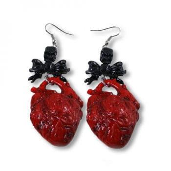 Herz Ohrringe rot