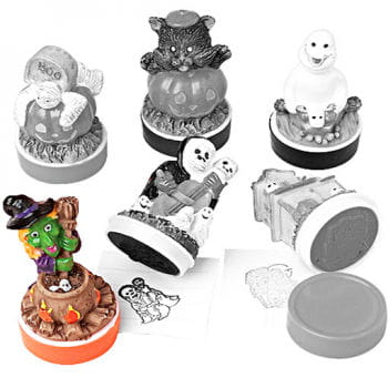 Halloween Rubber Stamp Witch