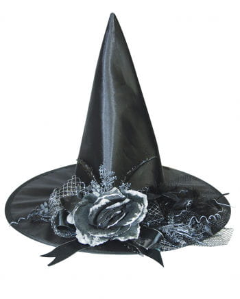 Witch hat with faded rose