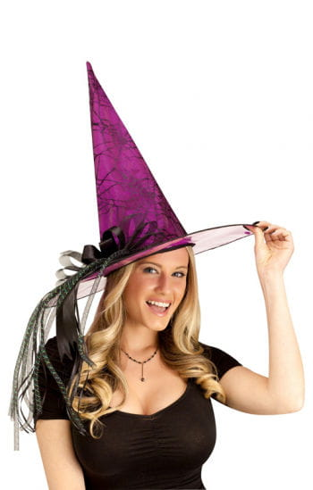 Glitter Witch Hat Magenta