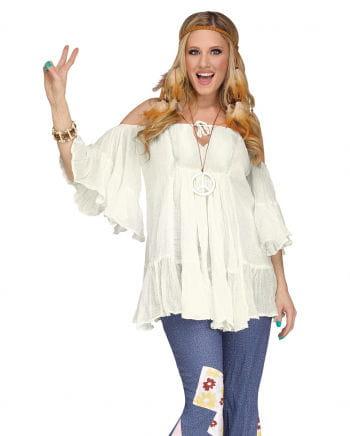 60s Hippie Cotton Blouse White