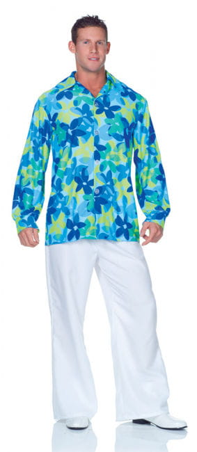 Hippie Men's Shirt Blue Plus Size