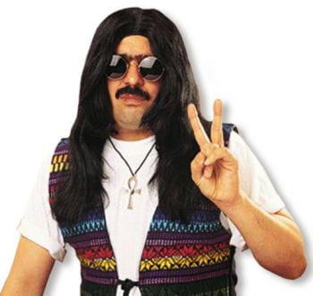 Hippie Long Hair Wig Black