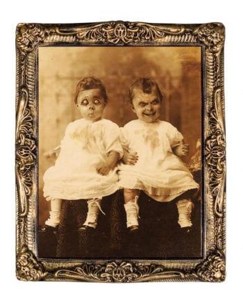 Hologramm Portrait Horror Zwillinge 38 x 51 cm