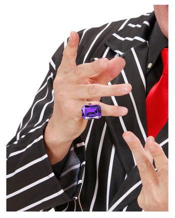 Ring mit amethystviolettem Schmuckstein