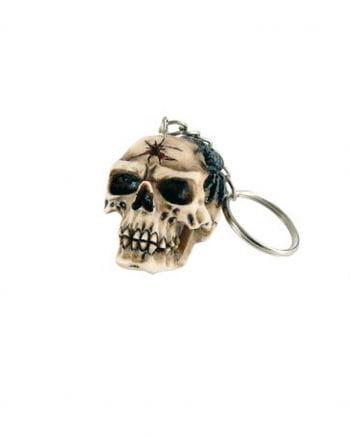 Schlüsselanhänger Totenkopf mit Skorpion