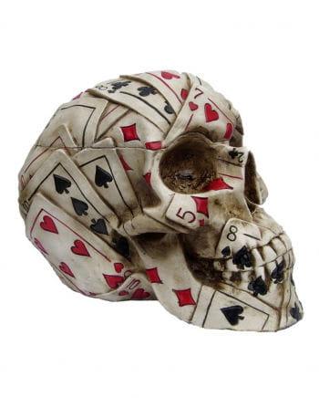 Poker skull made of polyresin