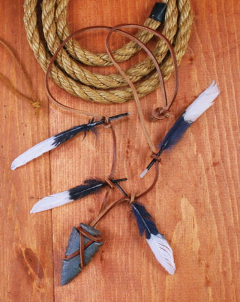 Indian Warrior Necklace with Arrowhead