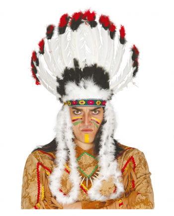 Indianerhäuptling Federkopfschmuck