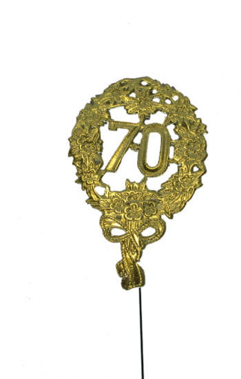 Anniversary number 70 gold
