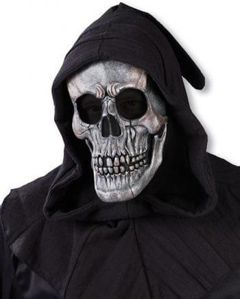 Hooded Skull Mask Silver