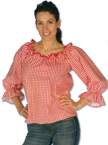 Checked Blouse Red/White L/XL 40-42