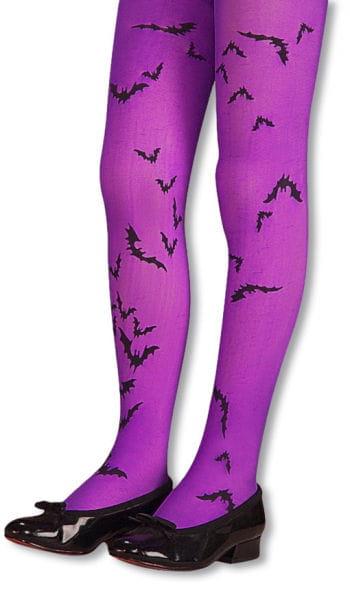 Children Bat Tights Purple