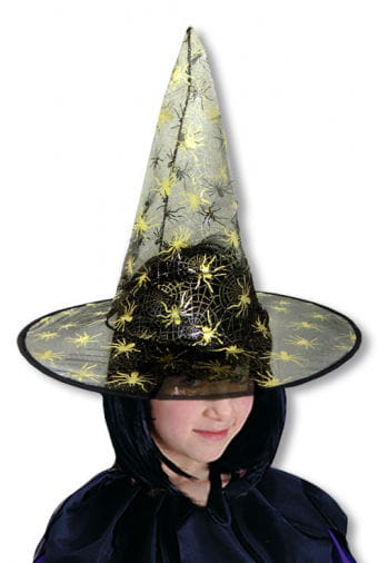 Child Witch Hat Bibi with Cobwebs Gold