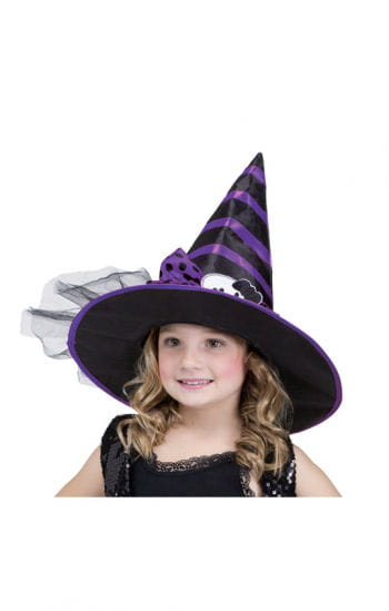 Child Witch Hat Black Purple
