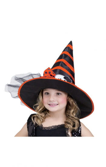 Child Witch Hat Black Orange