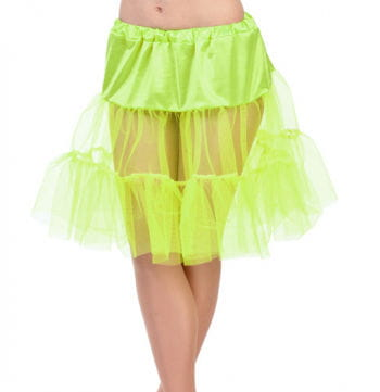 Children neon yellow petticoat