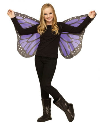 Children purple butterfly wings