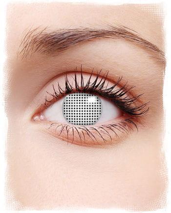 Kontaktlinsen weißes Netz