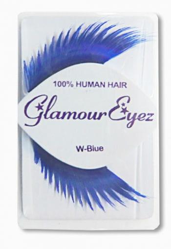 Human Hair Eyelashes Blue