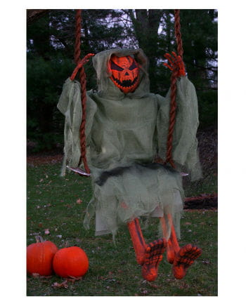 Pumpkin Ghost on the swing