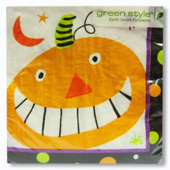 Pumpkin Face Napkins