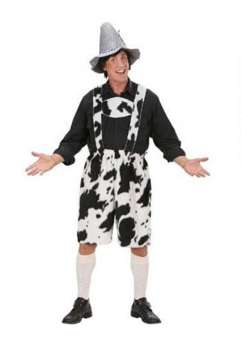 Plus Size Cow Lederhosen Plush